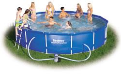 Bestway Steel Pro Frame paddling pool with filter pump 15 FT