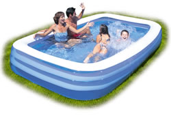 Bestway Deluxe Family Paddling Pool 10 X 6 FT