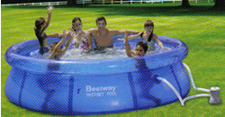 Fast Set paddling pool with filter pump 8 ft