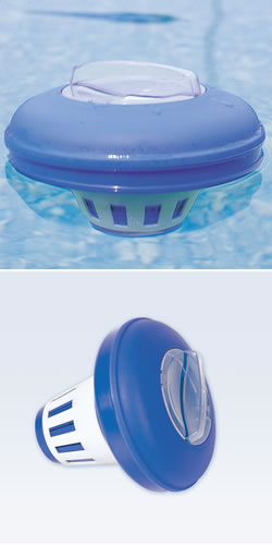 Pool chemical floater feeder