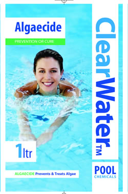Clearwater liquid algaeside for pools