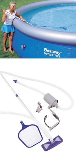 DELUXE Pool vacuum and skimmer maintenance kit