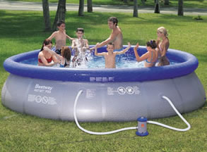 Fast Set paddling pool with filter pump and cover 12 FT