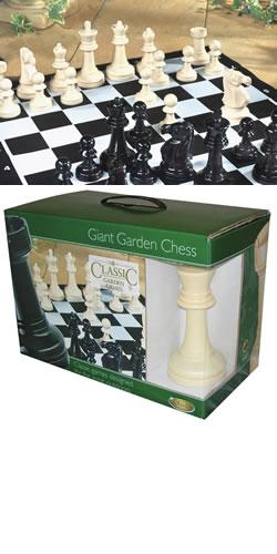 Giant Chess Garden Game