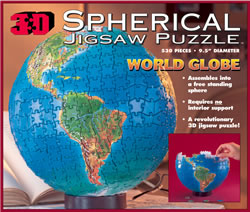 3D Spherical Globe Puzzle