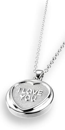 Love Hearts Classic Silver Pendant and Chain