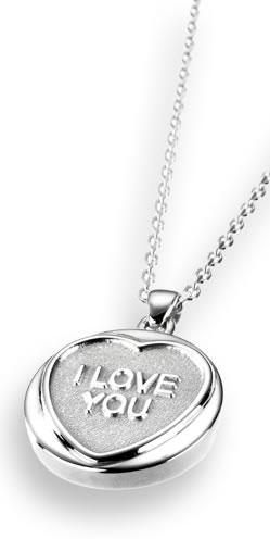 Love Hearts Classic Silver Pendant and Chain