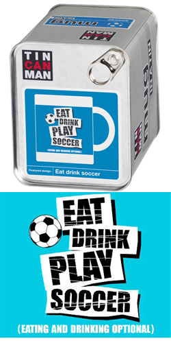 Eat and Drink Football Mug In A Tin