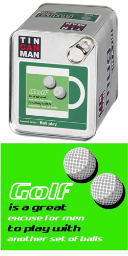 Golf Balls Mug In A Tin