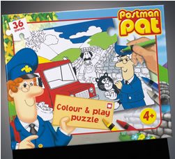 Postman Pat Colour in Jigsaw Puzzle and Play Set