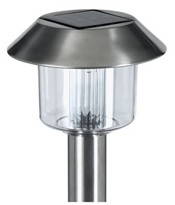 Kingfisher Stainless Steel Solar Garden Lights x 4
